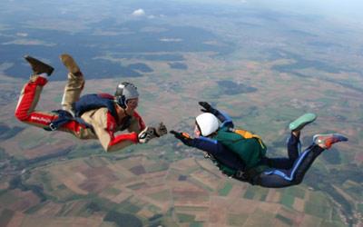 Coaching bei der Fallschirmausbildung