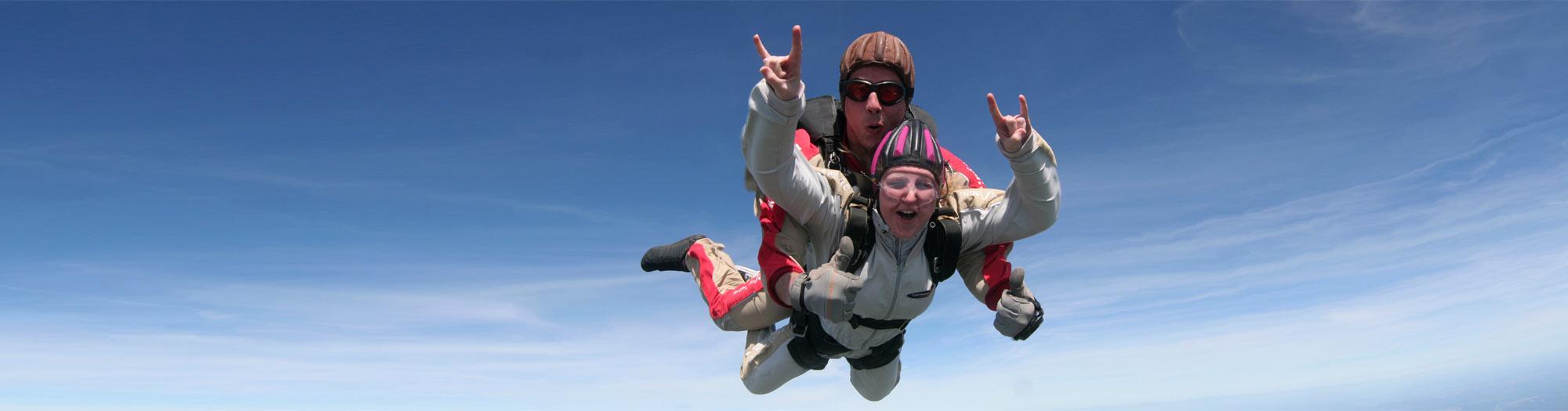 Fallschirmspringen bei skydive colibri