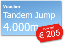 Skydive Tandem Jump 4.000m | from just € 205