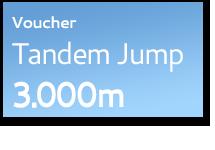 Voucher Tandem Skydive 3.000m